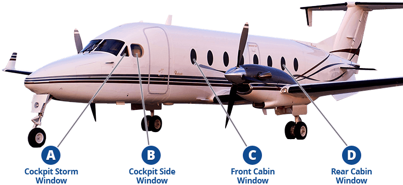 Beechcraft 1900D replacement windows