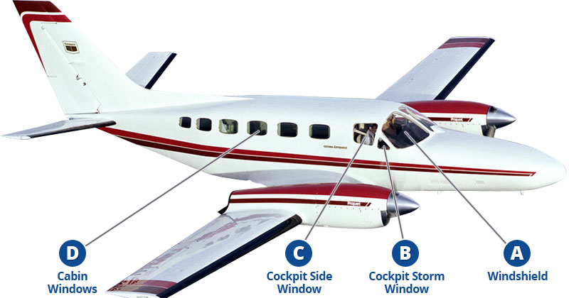 Cessna Conquest II replacement windows