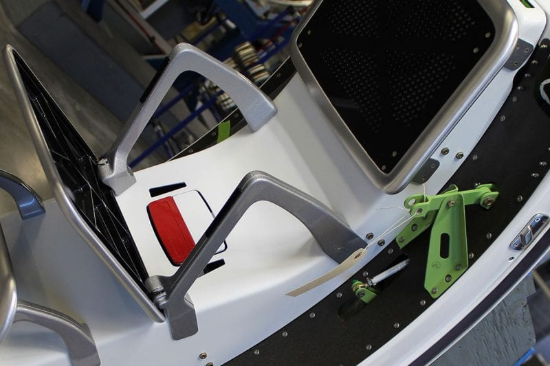 Hondajet door sub assembly