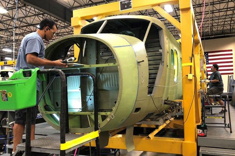 Viking fuselage assembly