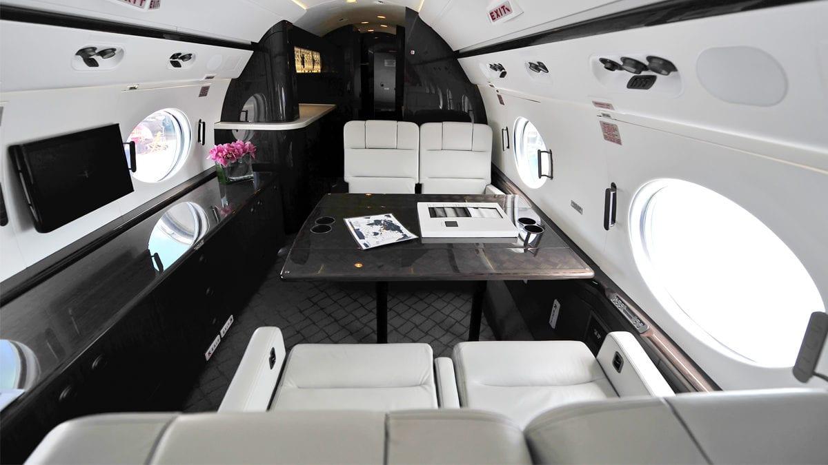 Gulfstream G-IV decontamination system