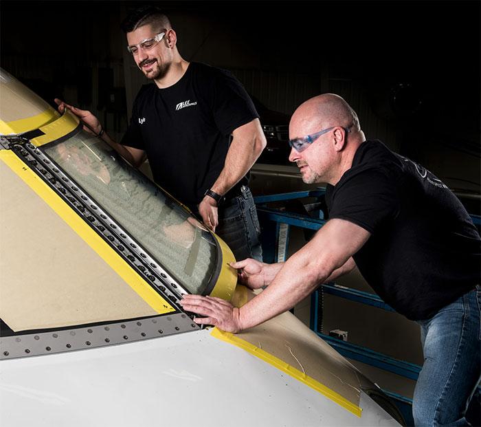 Aircraft windshield repair