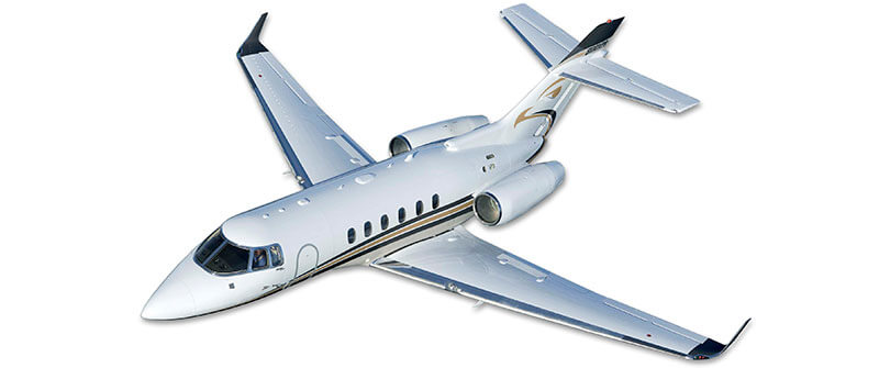 Hawker 125 cabin windows